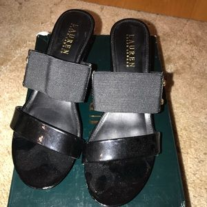 Ralph Lauren Black Wedges.